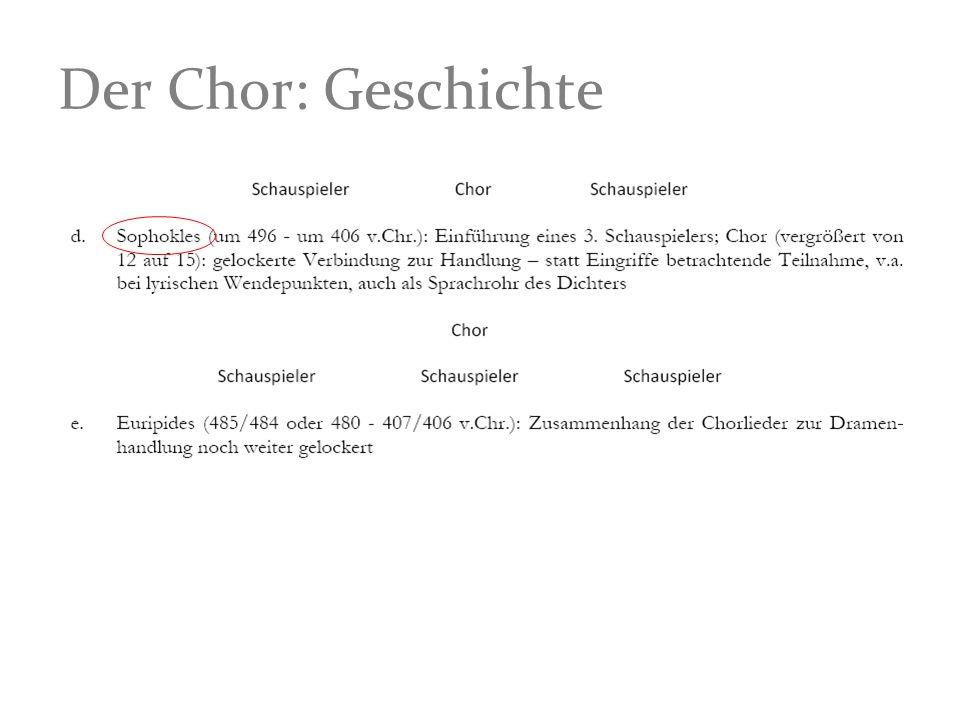 Der Chor: Geschichte