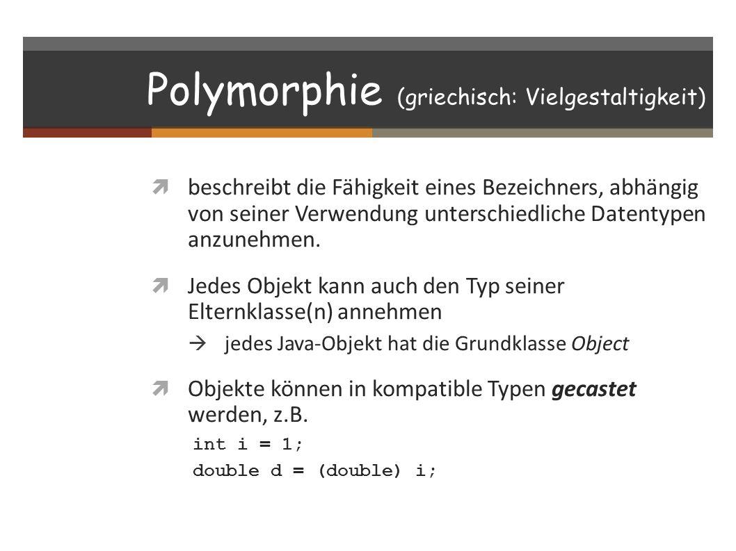 Polymorphie (griechisch: Vielgestaltigkeit)