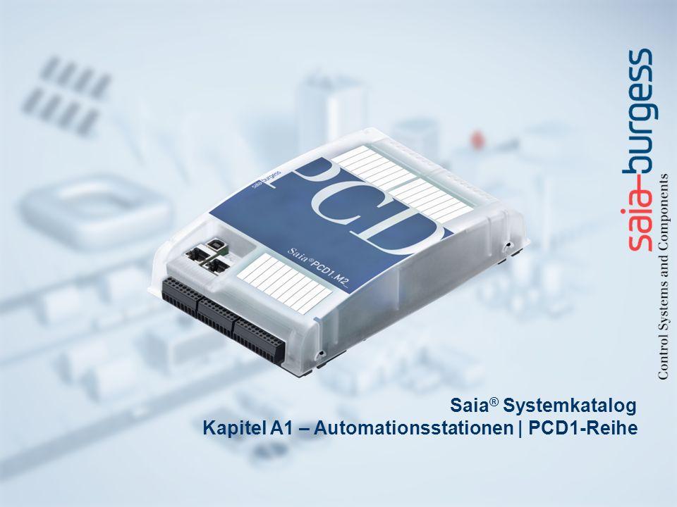 Saia® Systemkatalog Kapitel A1 – Automationsstationen | PCD1-Reihe