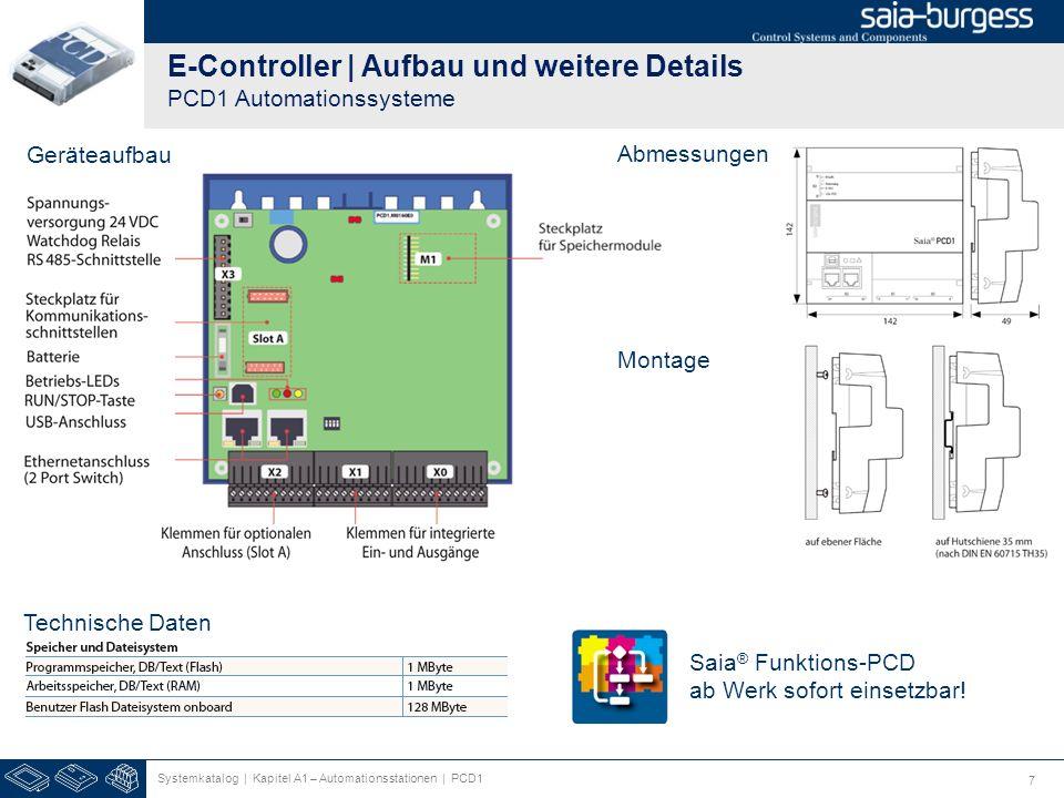 E-Controller | Aufbau und weitere Details PCD1 Automationssysteme