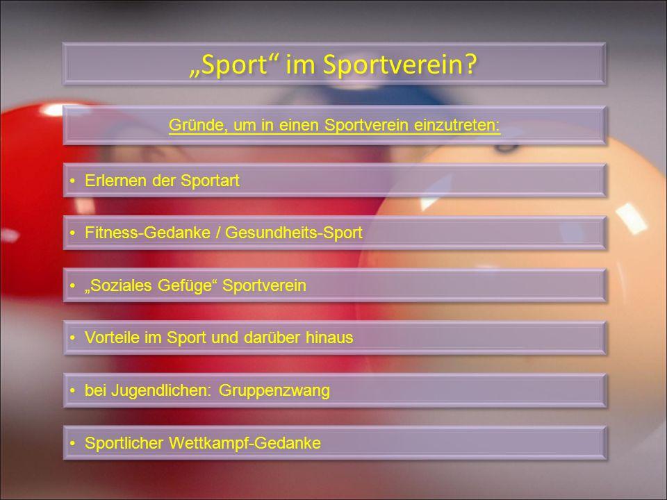 """""""Sport im Sportverein"""