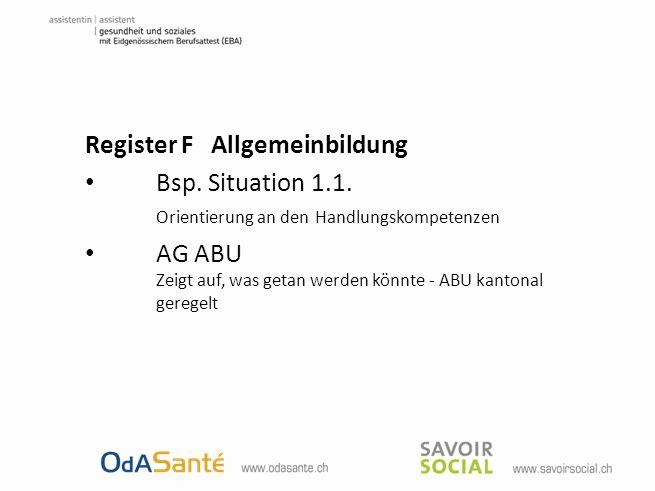 Register F Allgemeinbildung