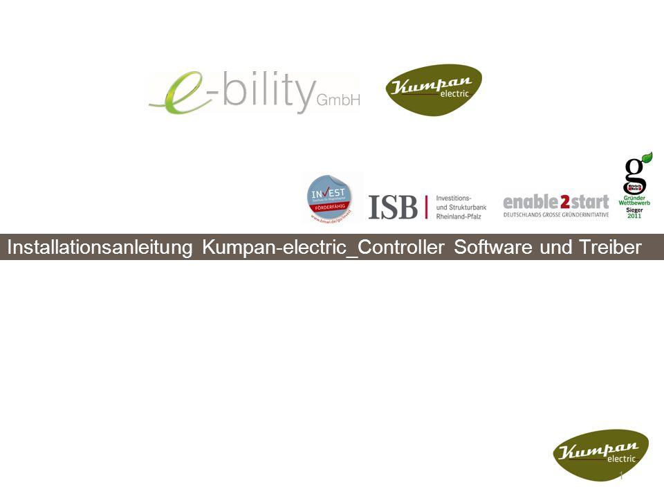 Installationsanleitung Kumpan-electric_Controller Software und Treiber