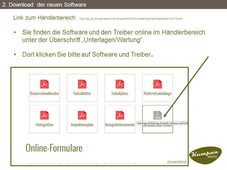Dort klicken Sie bitte auf Software und Treiber.