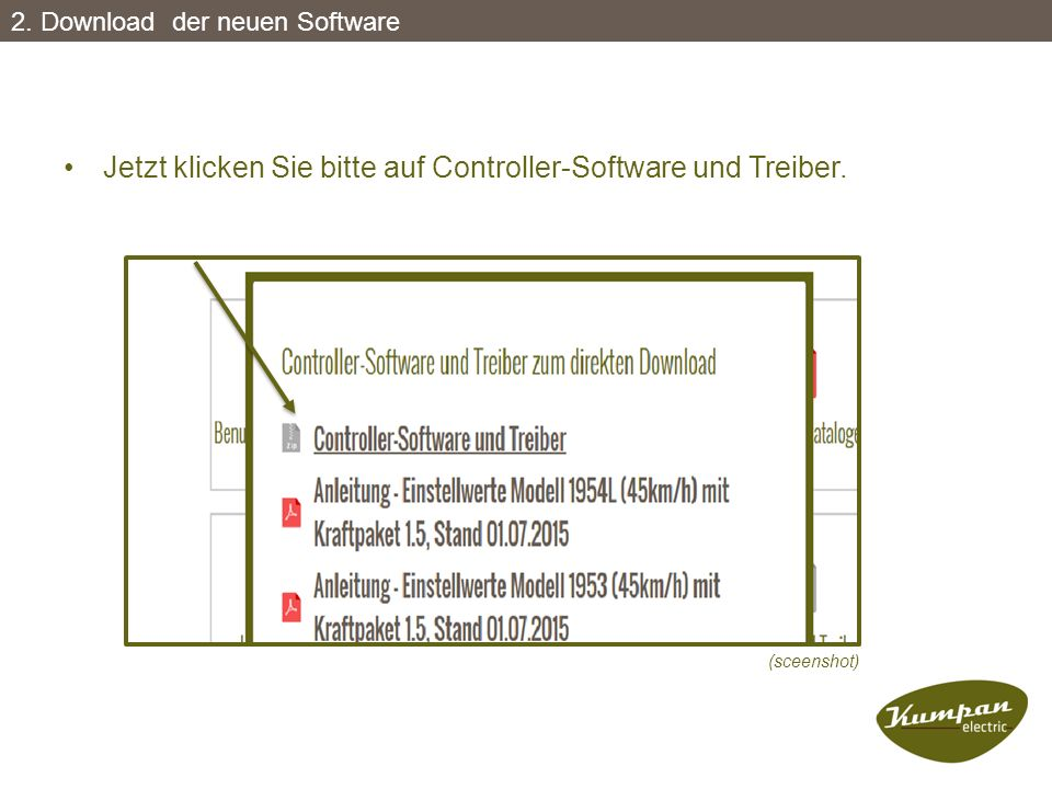 Jetzt klicken Sie bitte auf Controller-Software und Treiber.