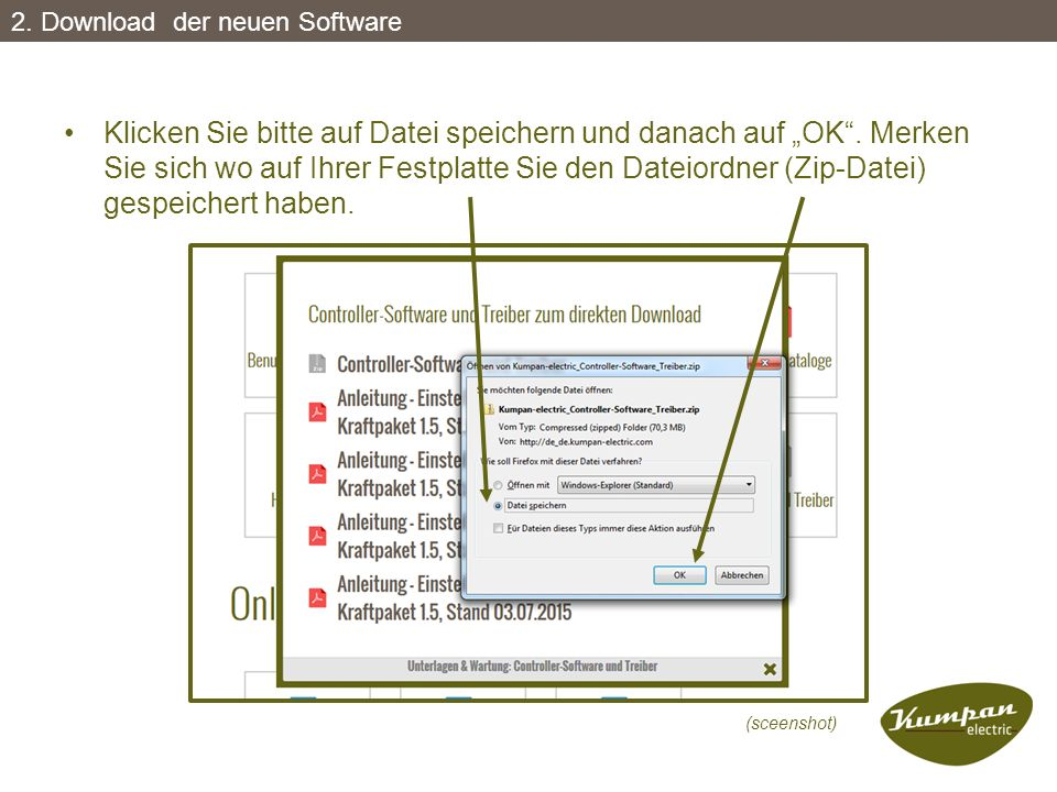 2. Download der neuen Software