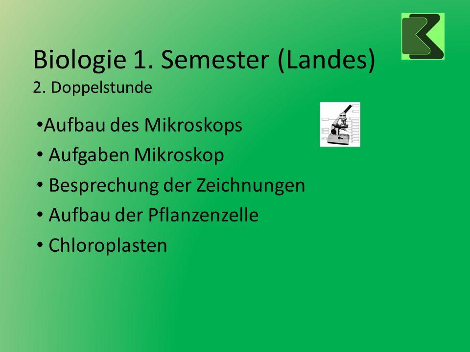 Biologie 1. Semester (Landes) 2. Doppelstunde