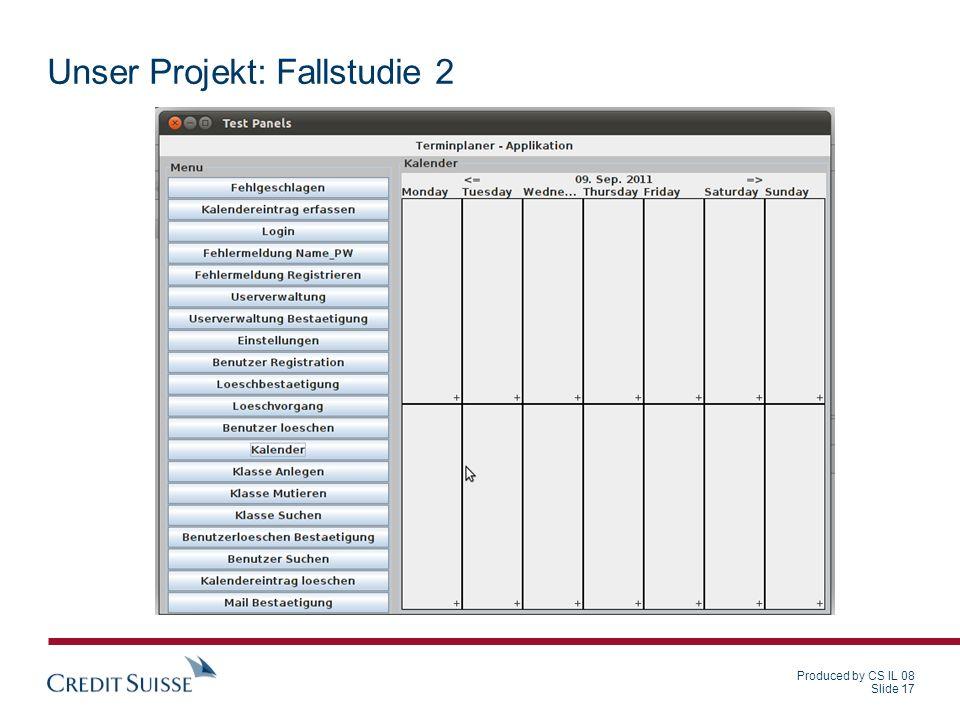 Unser Projekt: Fallstudie 2