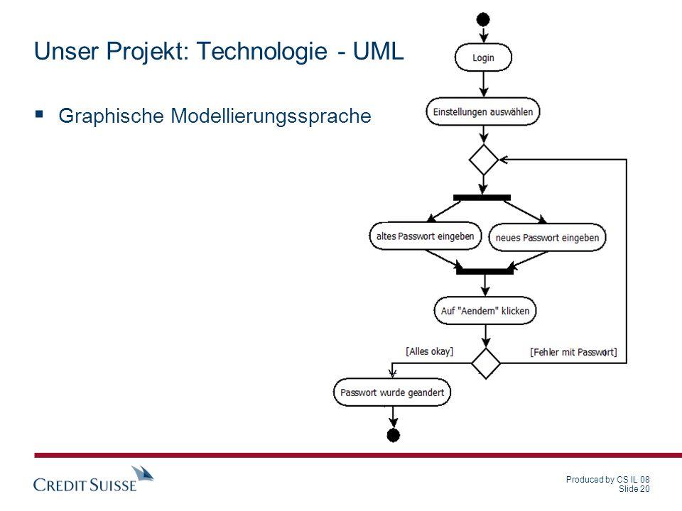 Unser Projekt: Technologie - UML