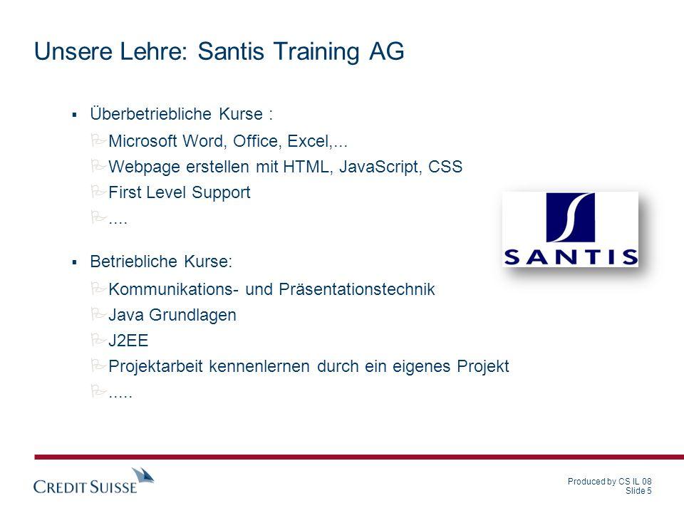 Unsere Lehre: Santis Training AG