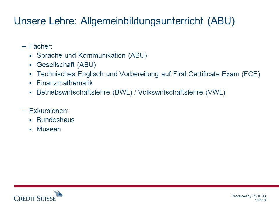 Unsere Lehre: Allgemeinbildungsunterricht (ABU)