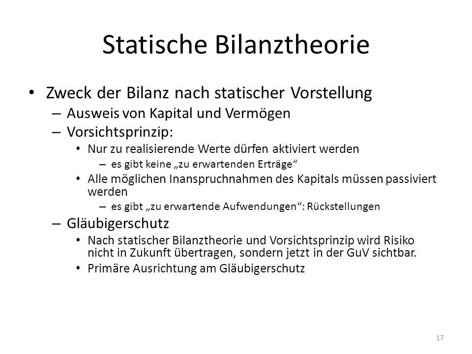Statische Bilanztheorie