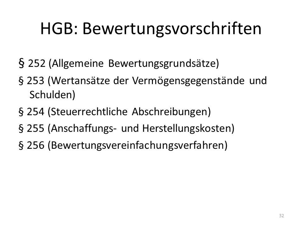 HGB: Bewertungsvorschriften