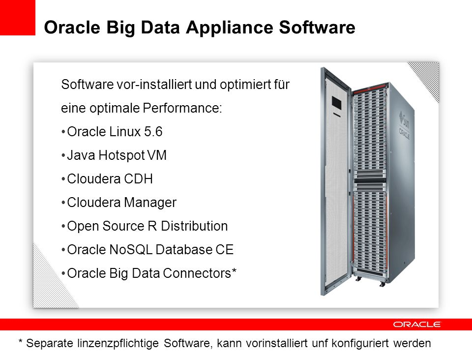 Oracle Big Data Appliance Software