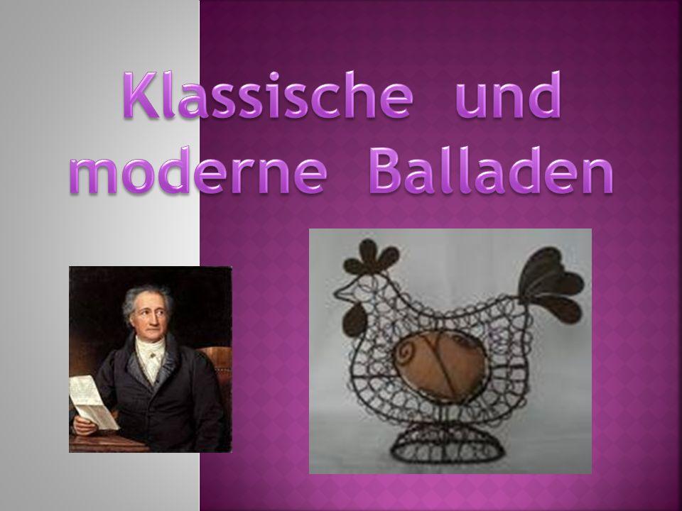 Klassische und moderne Balladen