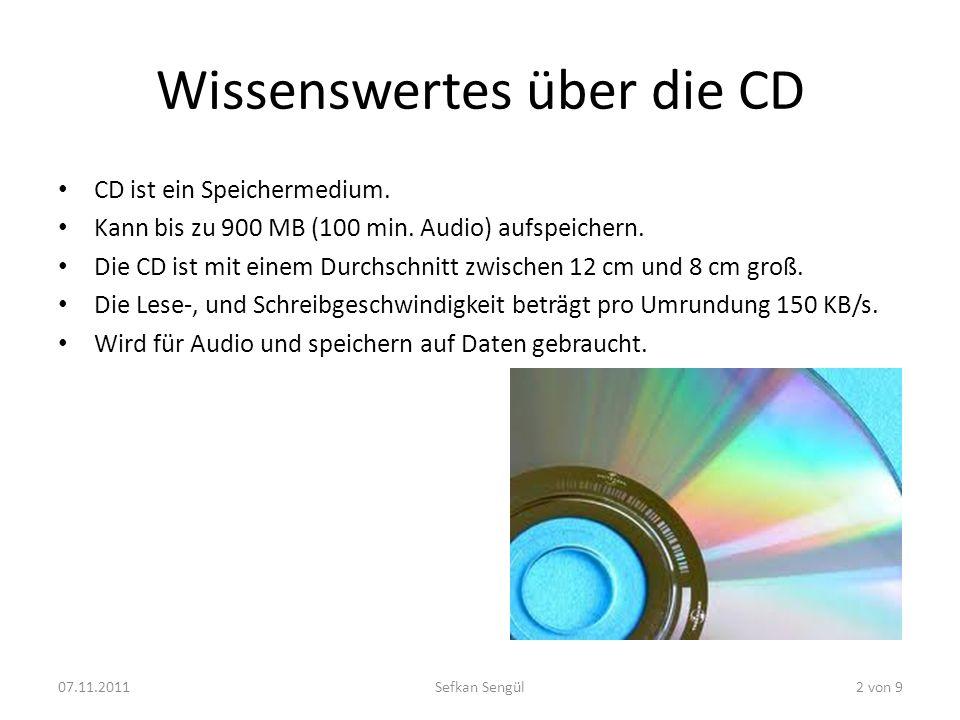 Wissenswertes über die CD
