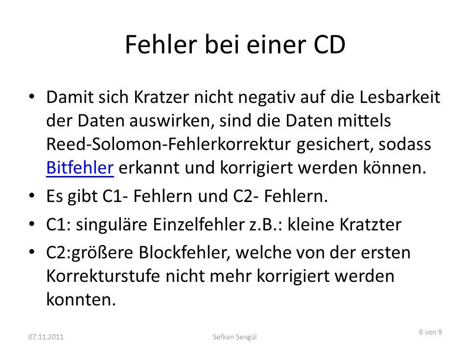 Fehler bei einer CD