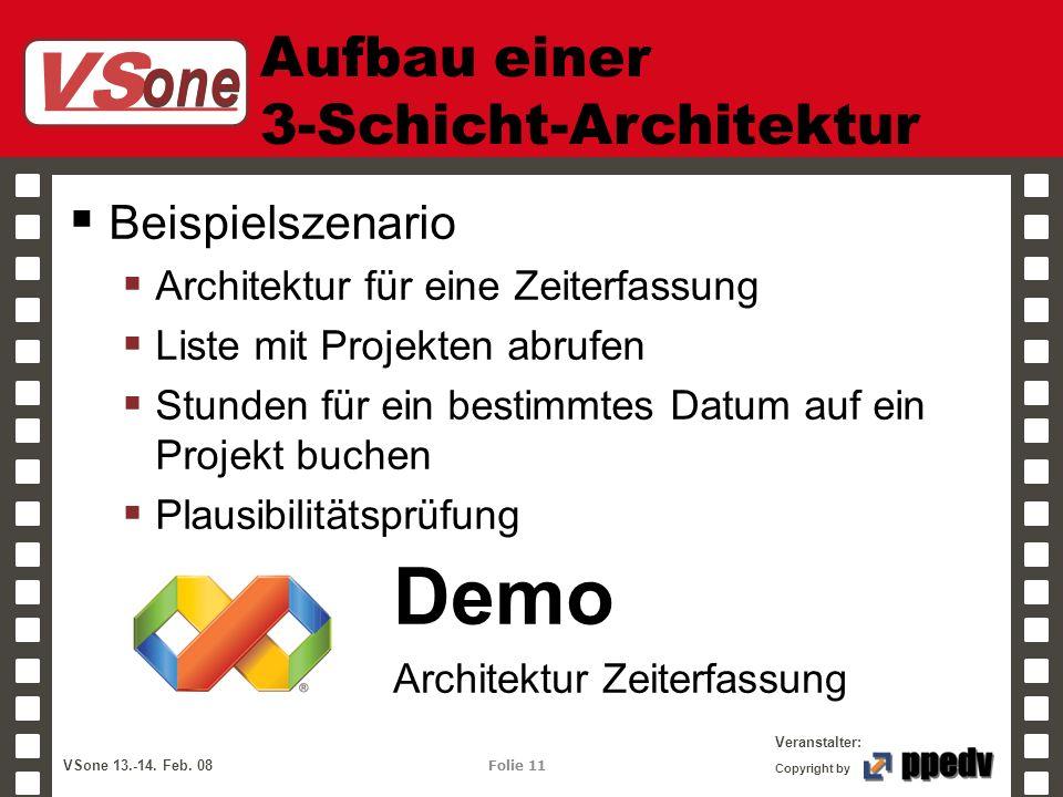 Aufbau einer 3-Schicht-Architektur