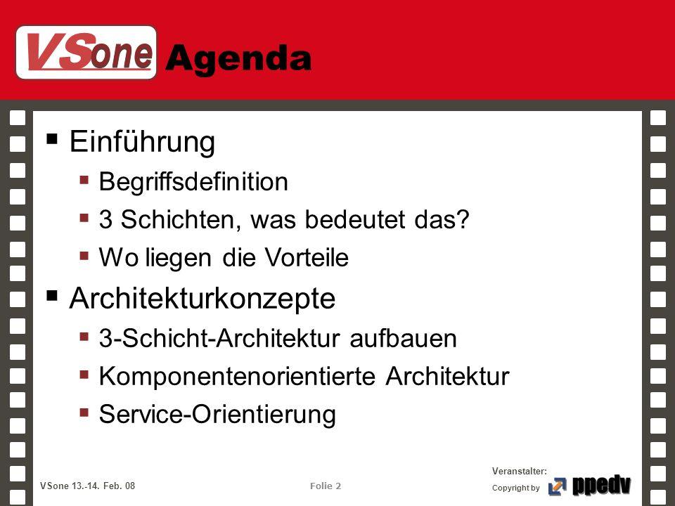 Agenda Einführung Architekturkonzepte Begriffsdefinition