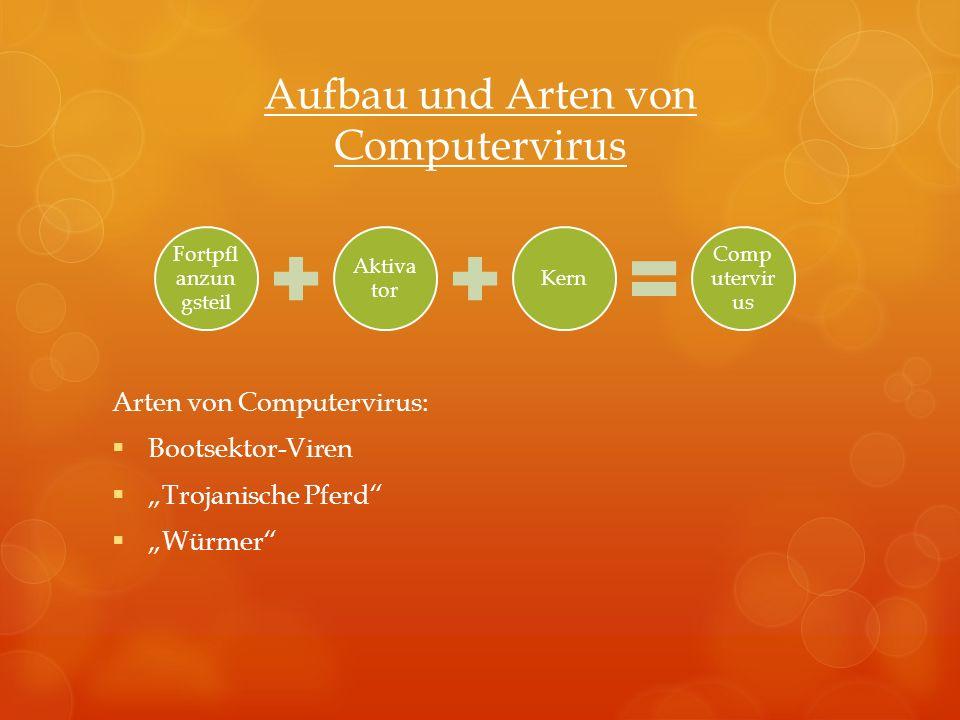 Aufbau und Arten von Computervirus