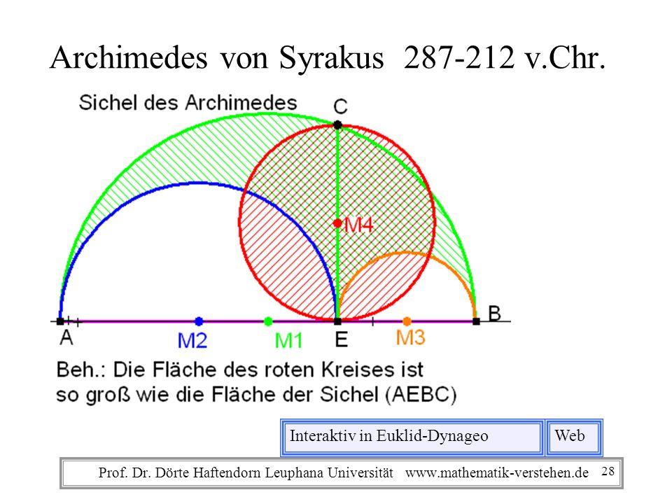 Archimedes von Syrakus 287-212 v.Chr.