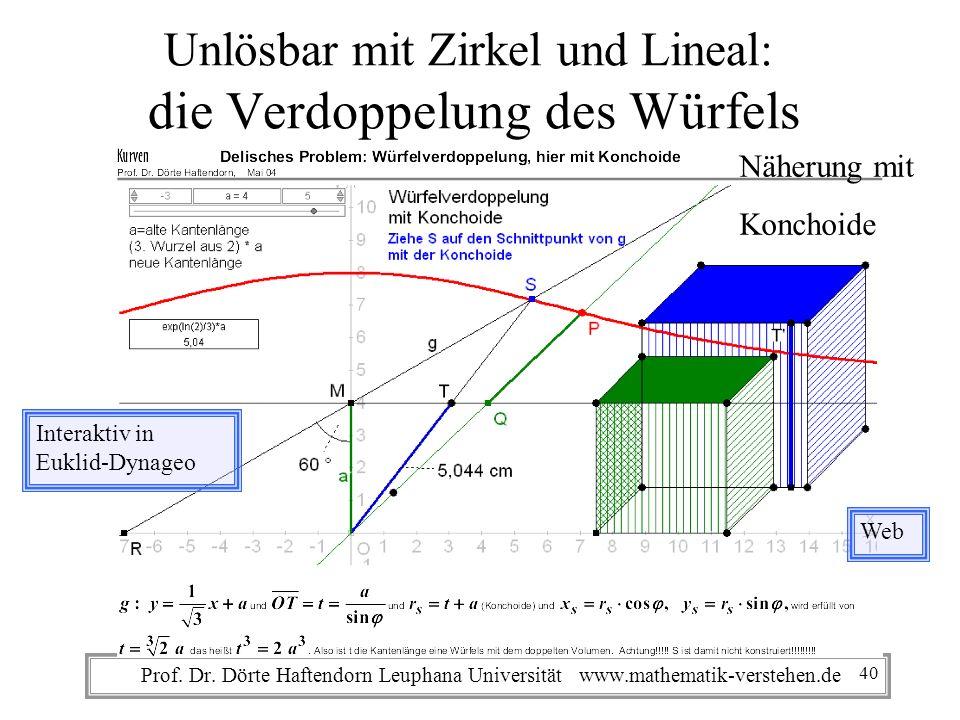 Unlösbar mit Zirkel und Lineal: die Verdoppelung des Würfels