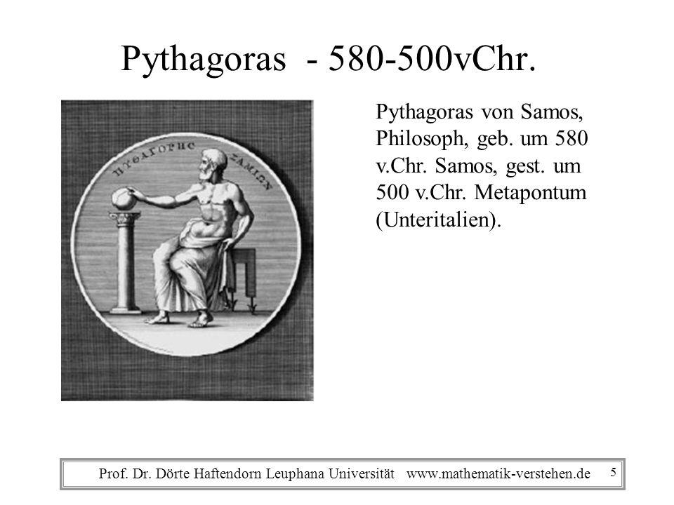 Pythagoras - 580-500vChr. Pythagoras von Samos, Philosoph, geb. um 580
