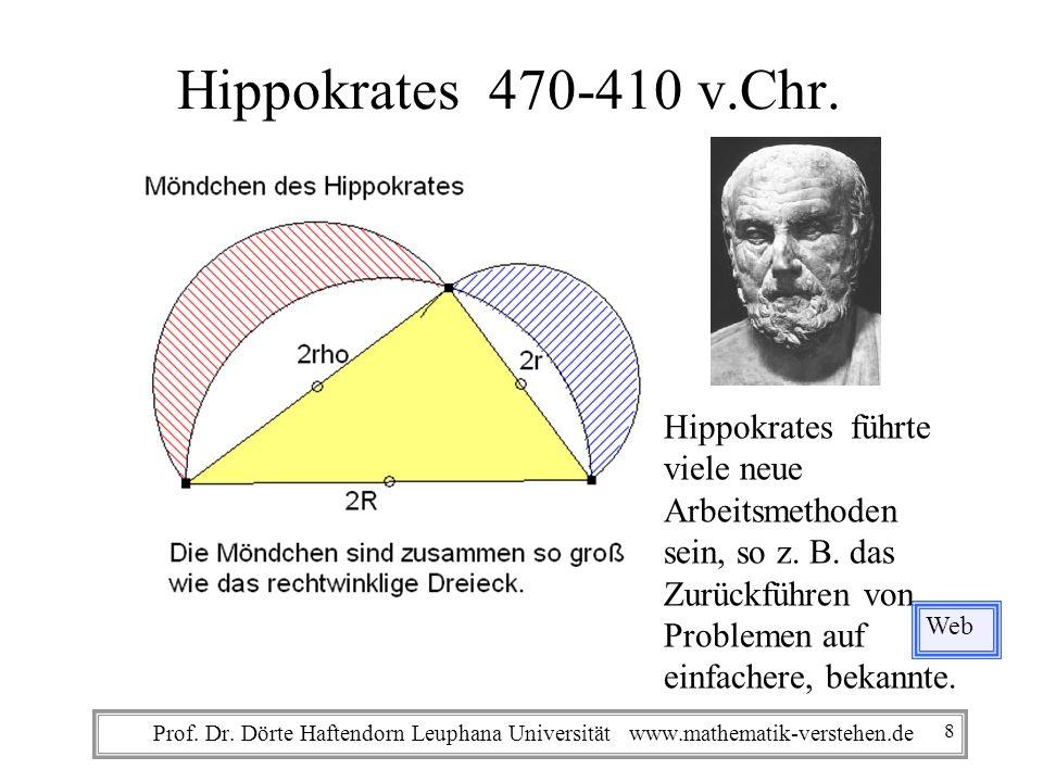 Hippokrates 470-410 v.Chr. Hippokrates führte viele neue Arbeitsmethoden. sein, so z. B. das Zurückführen von.