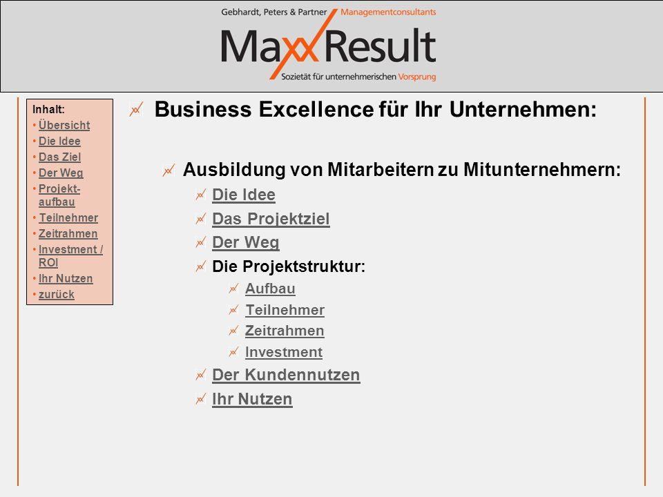 Business Excellence für Ihr Unternehmen: