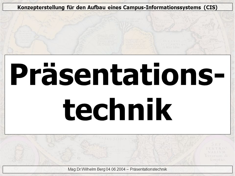 Präsentations-technik