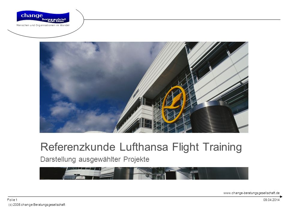 Referenzkunde Lufthansa Flight Training