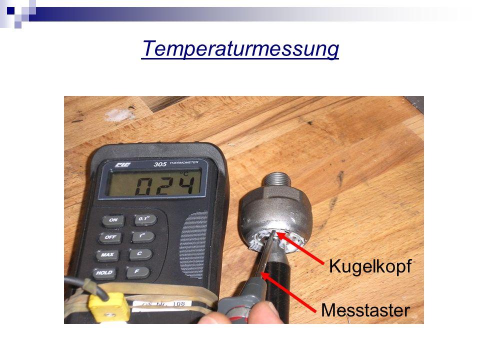 Temperaturmessung Kugelkopf Messtaster