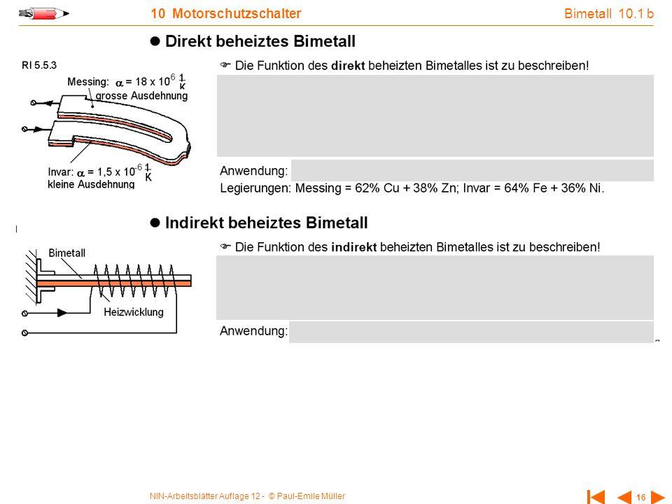Bimetall 10.1 b 10 Motorschutzschalter