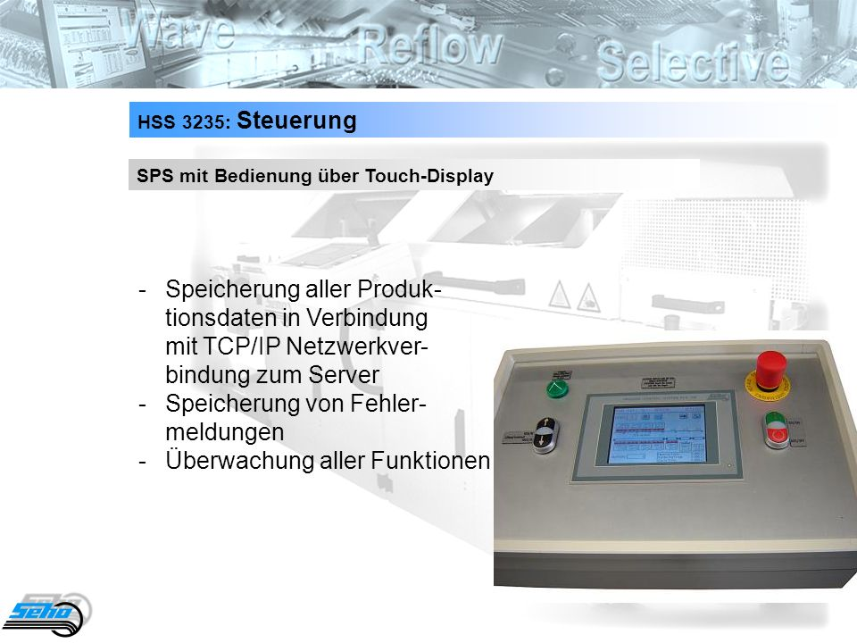 HSS 3235: Steuerung SPS mit Bedienung über Touch-Display.