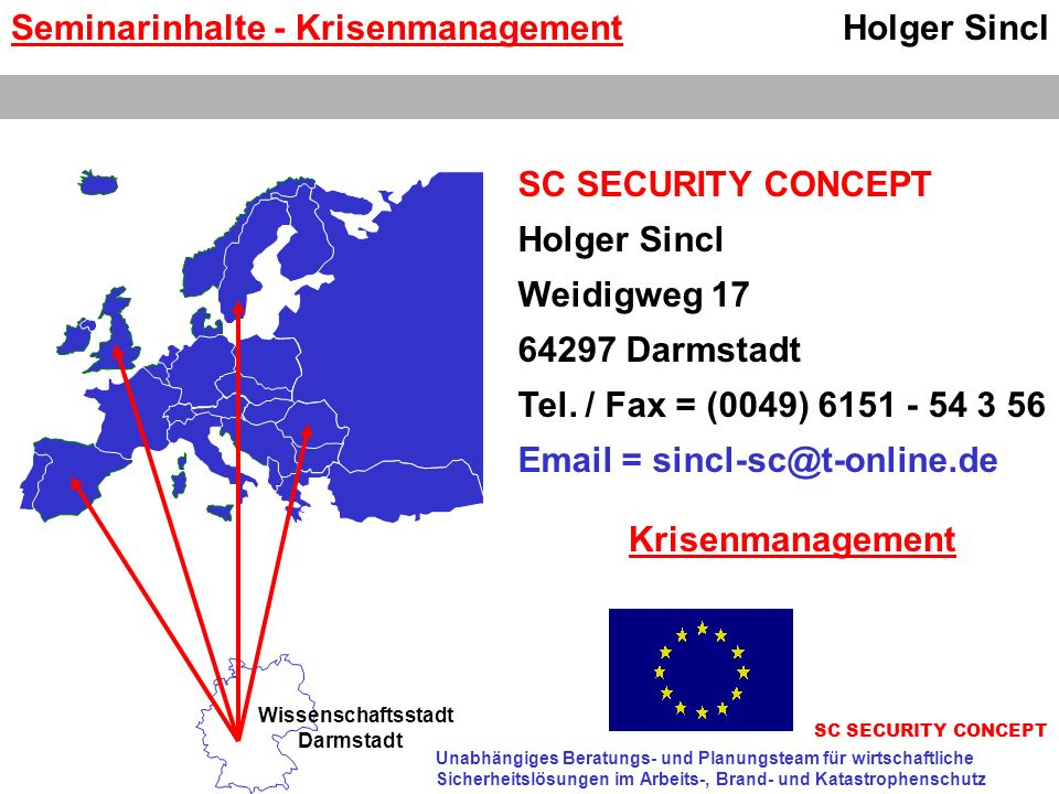 Seminarinhalte - Krisenmanagement Holger Sincl