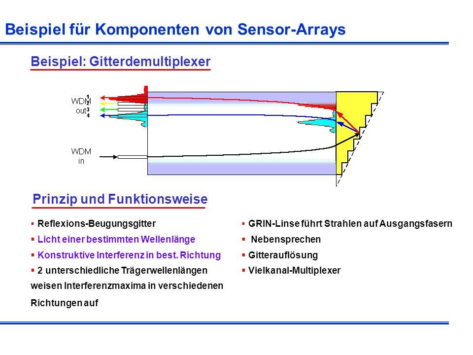 Beispiel für Komponenten von Sensor-Arrays