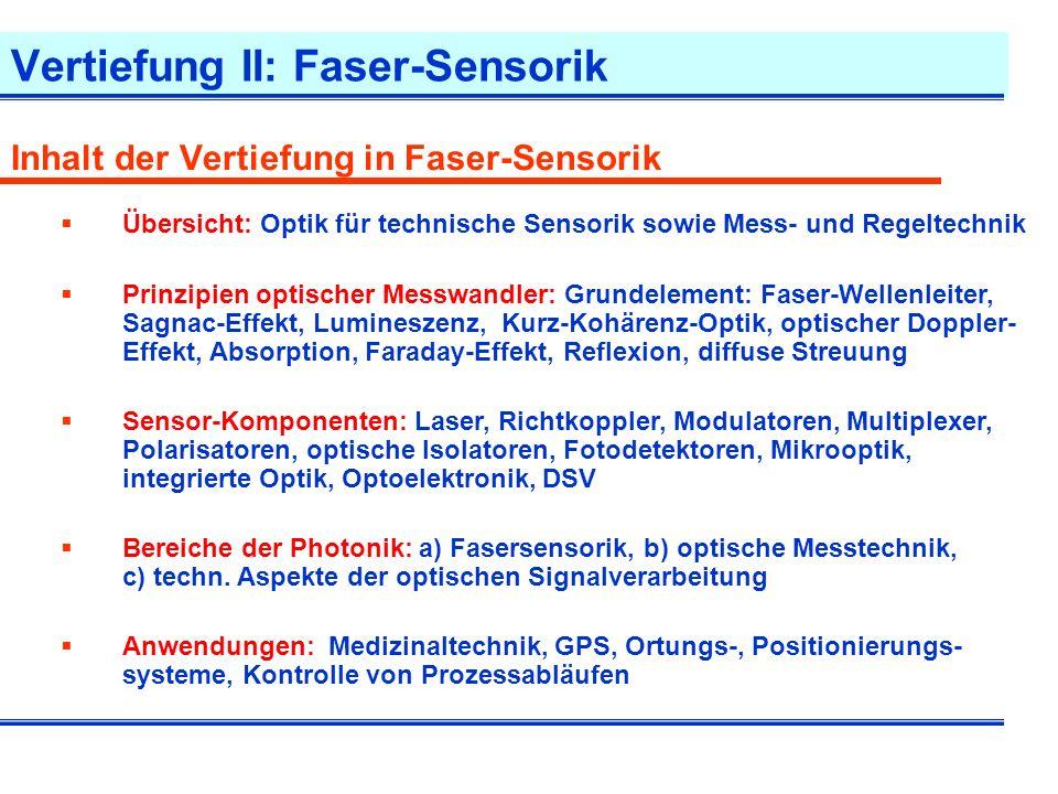 Vertiefung II: Faser-Sensorik