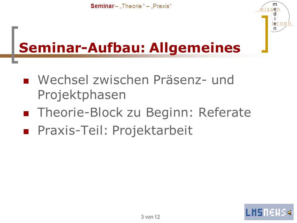 Seminar-Aufbau: Allgemeines
