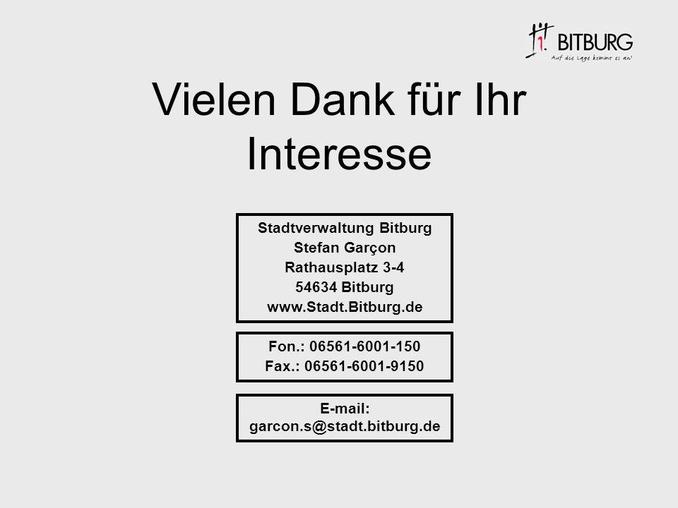 Stadtverwaltung Bitburg E-mail: garcon.s@stadt.bitburg.de