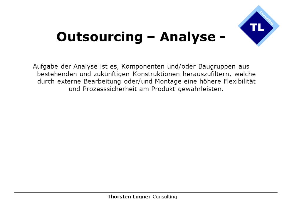 Outsourcing – Analyse -