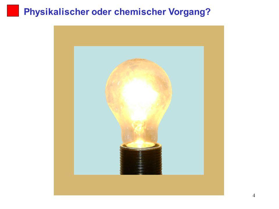 Physikalischer oder chemischer Vorgang