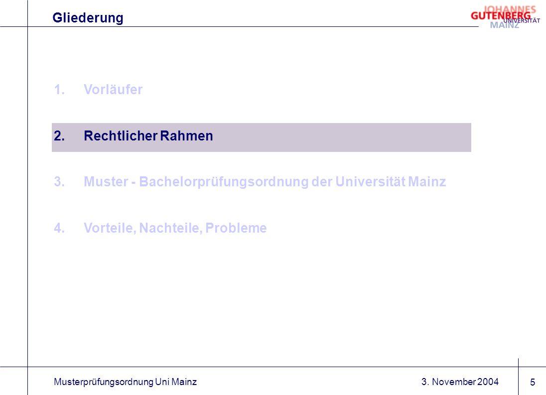 Muster - Bachelorprüfungsordnung der Universität Mainz