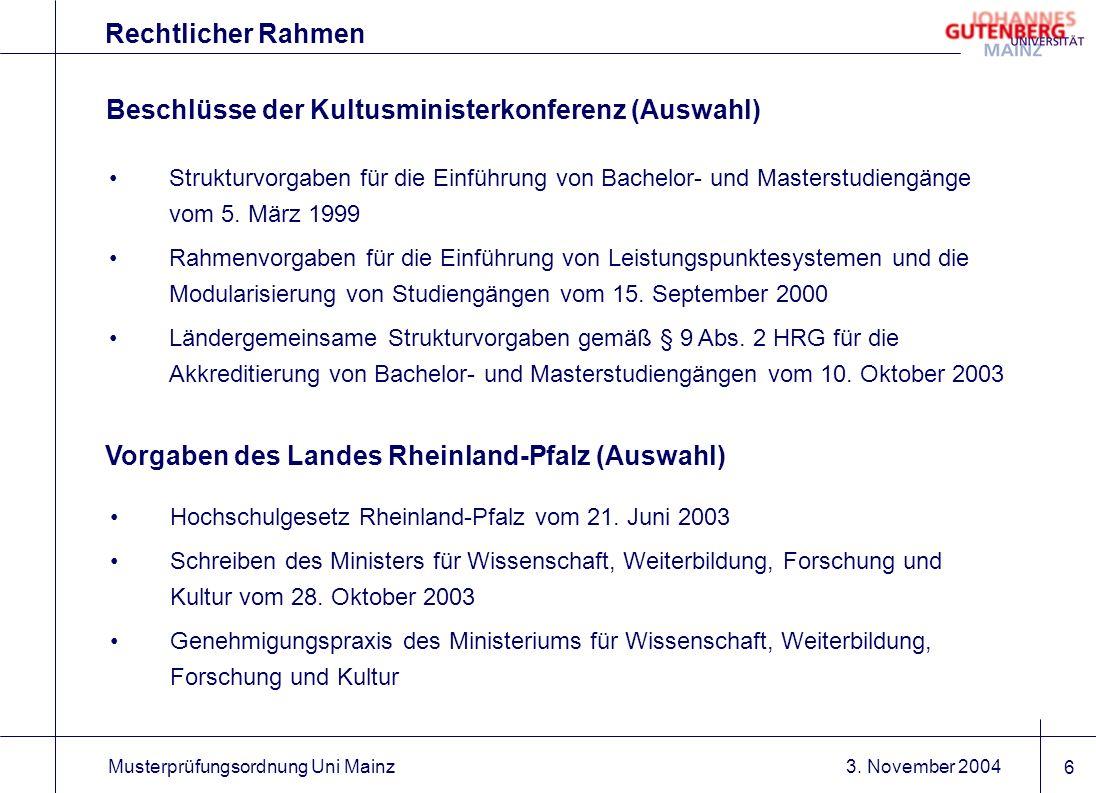 Beschlüsse der Kultusministerkonferenz (Auswahl)