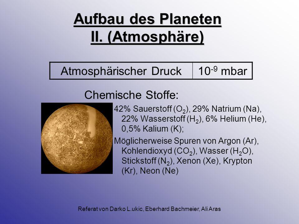 Aufbau des Planeten II. (Atmosphäre)