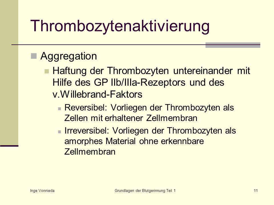 Thrombozytenaktivierung