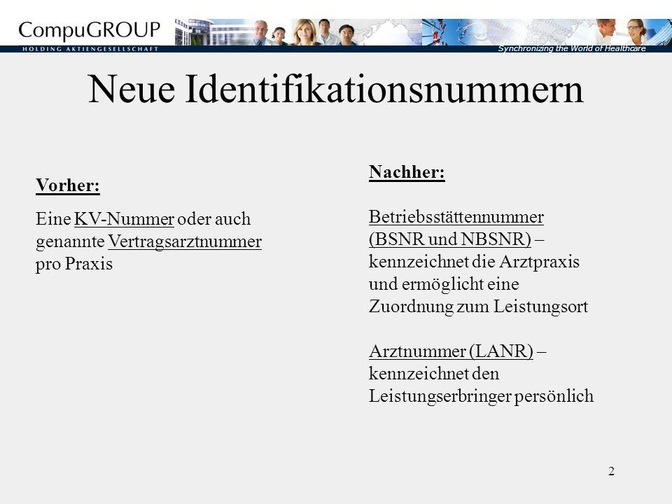 Neue Identifikationsnummern