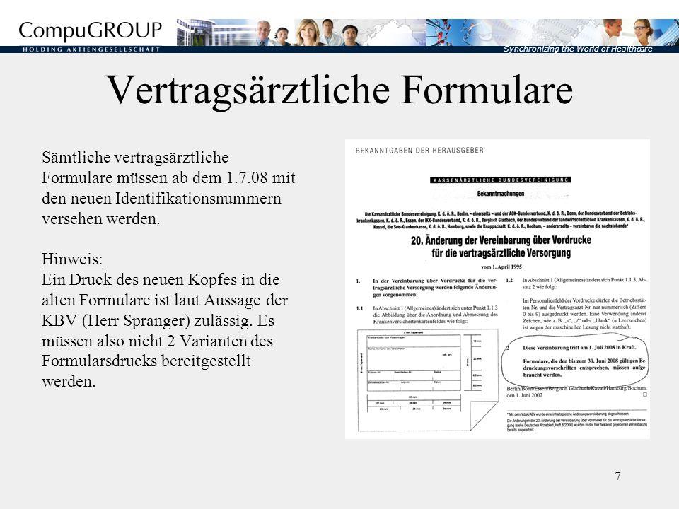 Vertragsärztliche Formulare