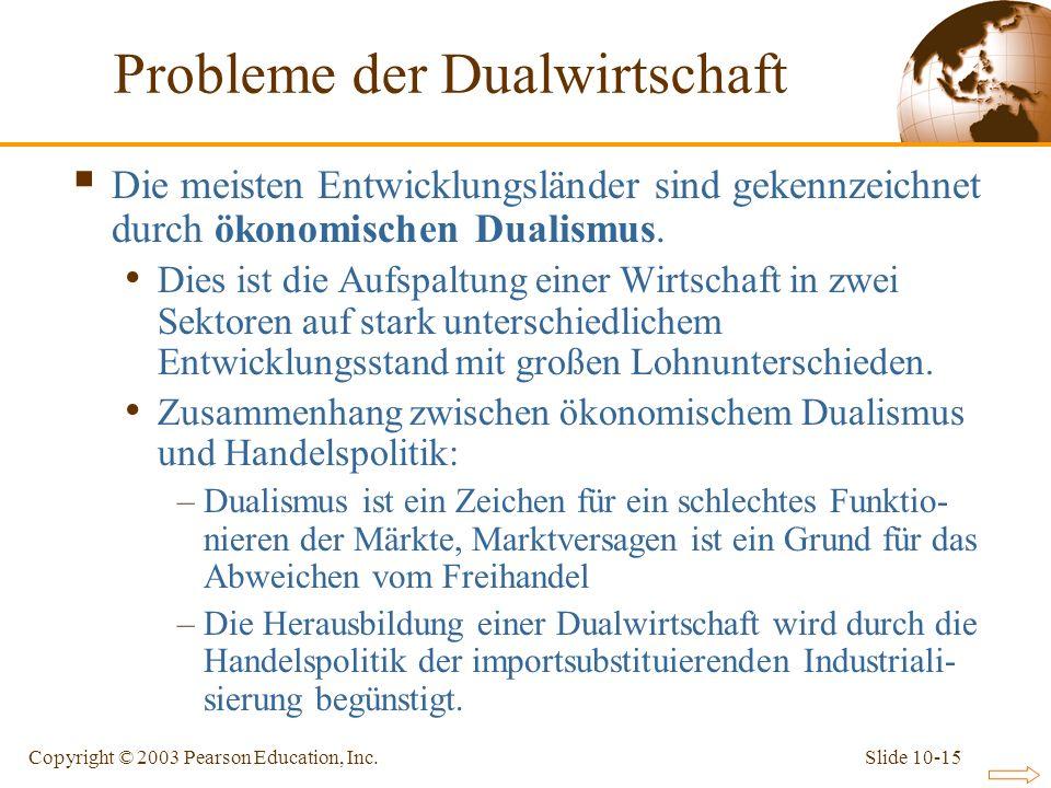 Probleme der Dualwirtschaft