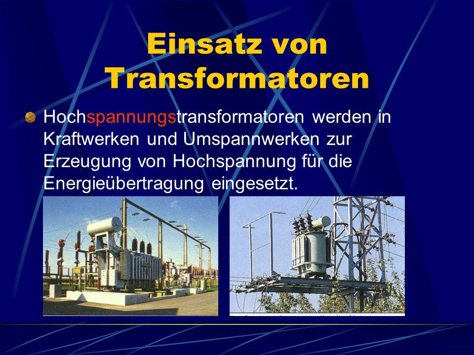 Einsatz von Transformatoren