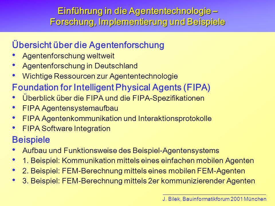 J. Bilek, Bauinformatikforum 2001 München